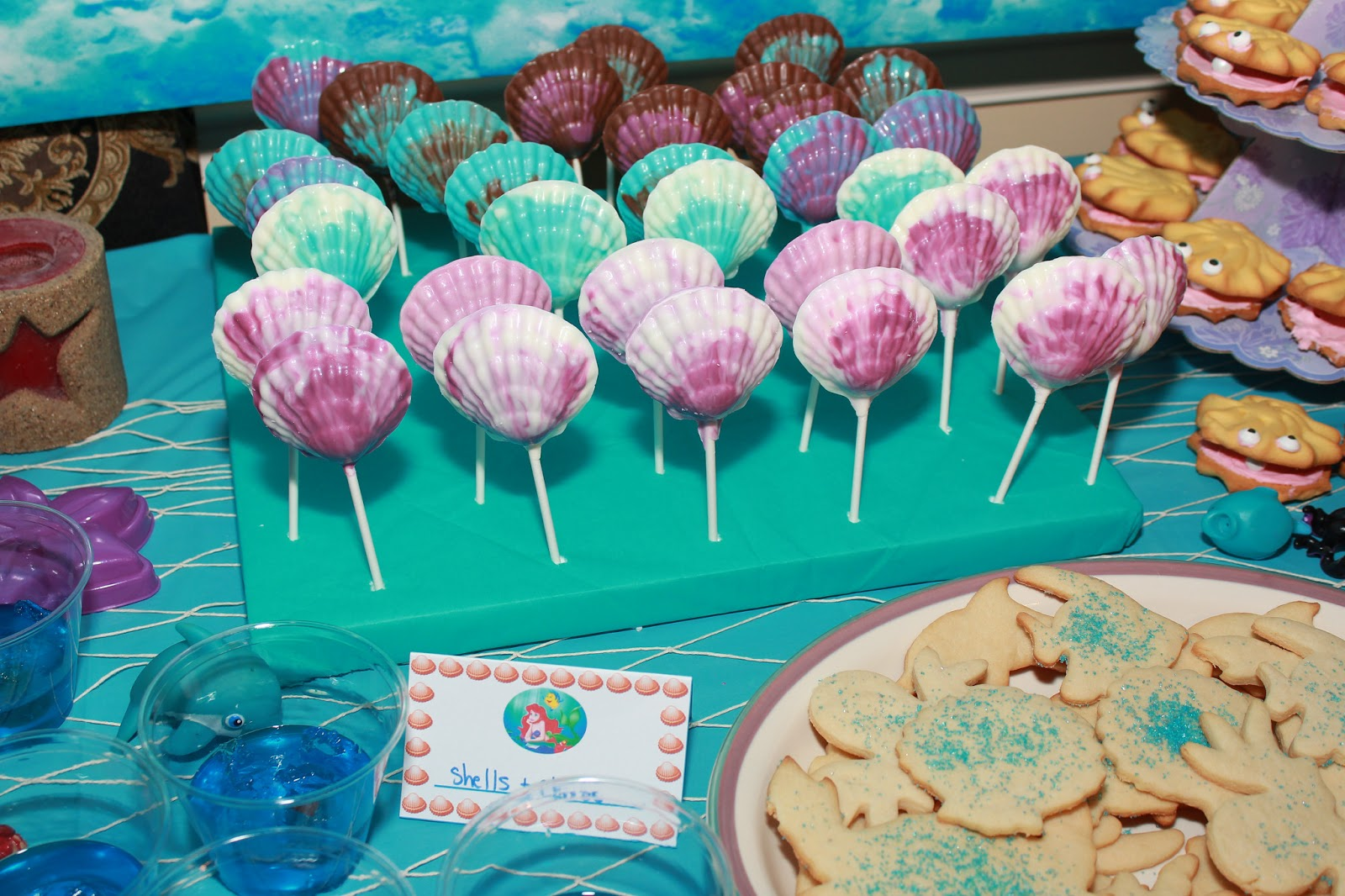 Chocolate Shell Pops And Sea Animal Cookies