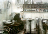 Leon Tolstoi retratado por B. Meshkov