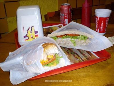 Sandwich Hall: Sanduíche Retado de Frango e Aleluia