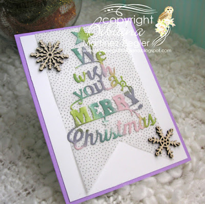how to color die cuts merry card last view