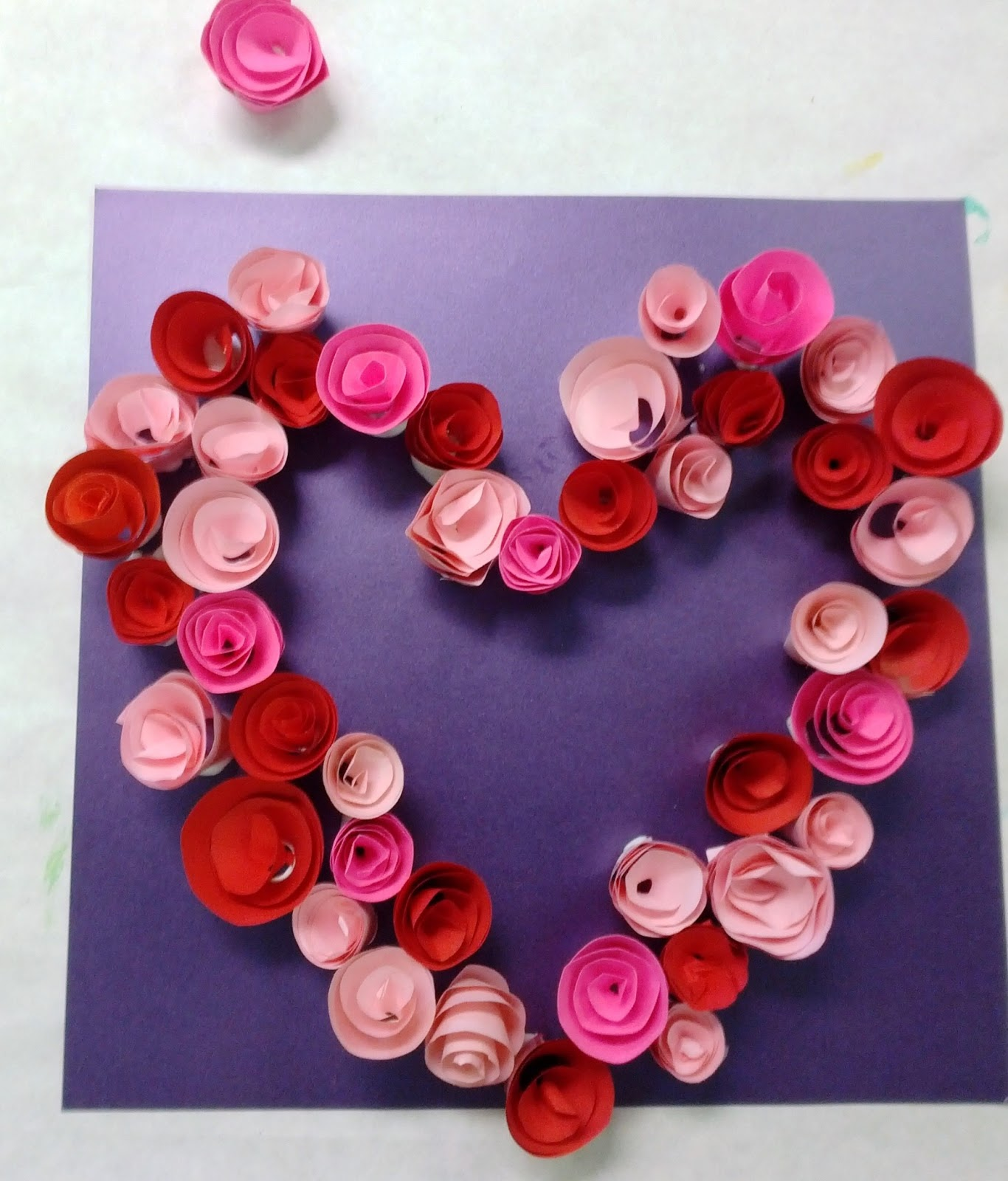 Valentine's Paper Flower Heart Wreath | Eat, Sleep, Crafts