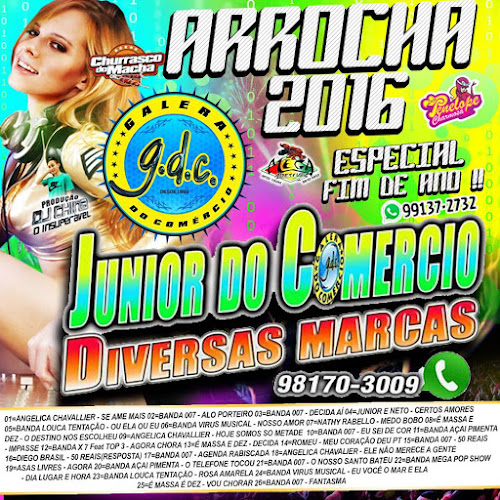 CD JUNIOR DO COMERCIO - ARROCHA 2016 ESPECIAL FIM DE ANO