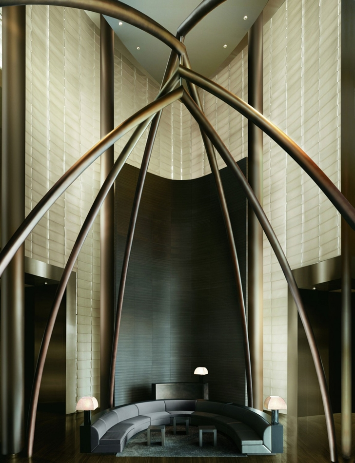 Lobby furniture in Armani Burj Khalifa Hotel Dubai