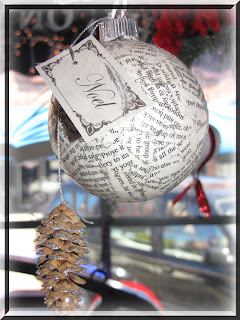 Decorating on a Dollar: Glass Ball Book Page Ornamnet