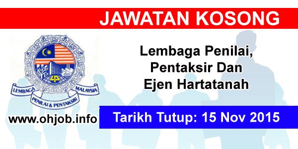 Jawatan Kerja Kosong Lembaga Penilai,Pentaksir Dan Ejen Hartatanah logo www.ohjob.info november 2015
