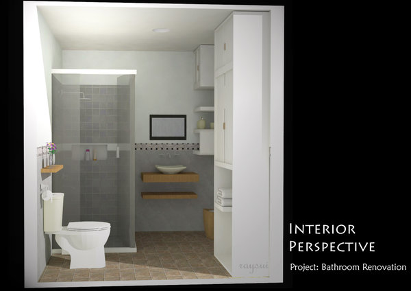 Hgconstruction philippines interior spaces 3d presentation for Bathroom renovations 3d