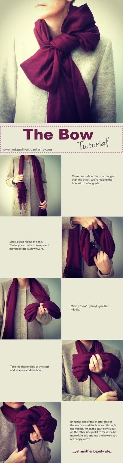 Cómo ponerse una bufanda en forma de lazo (bow)