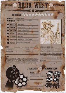 [Ayuda de juego] Hoja de personaje de Dark West