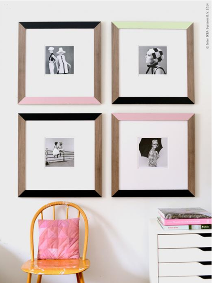 ikea hack 60s inspired frames