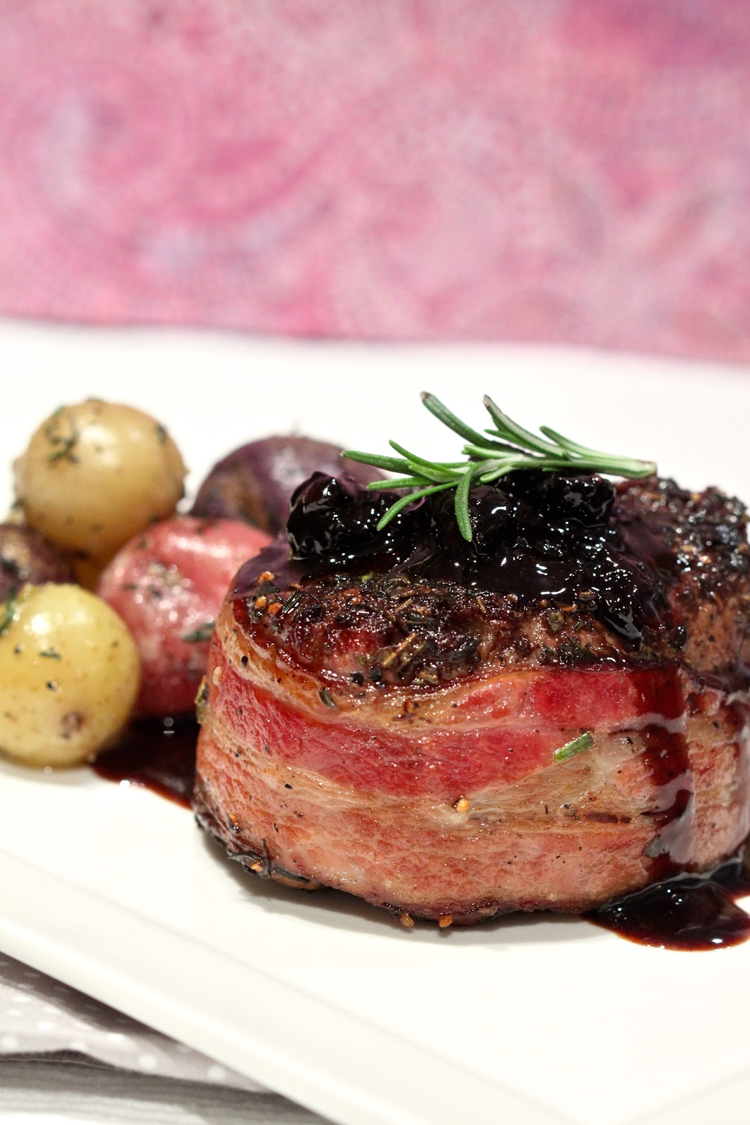 ... Living: Day 18: Bacon Wrapped Beef Tenderloin with Dry Cherry Sauce