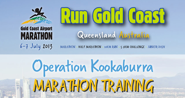 Operation Kookaburra 2013: RUN GOLD GOAST Marathon Training