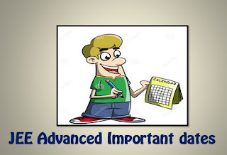 JEE 2016 Advanced Important dates
