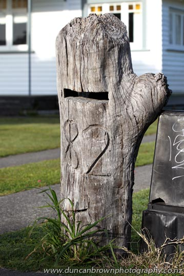 Surprises on every street! I found this tree letterbox in Wairoa :-) photograph