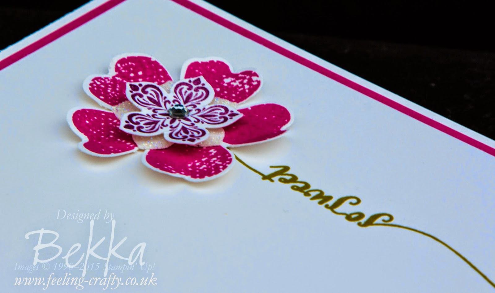 Hello Life So Sweet Flower by Stampin' Up! UK Independent Demonstrator Bekka Prideaux - check out this wonderful blog