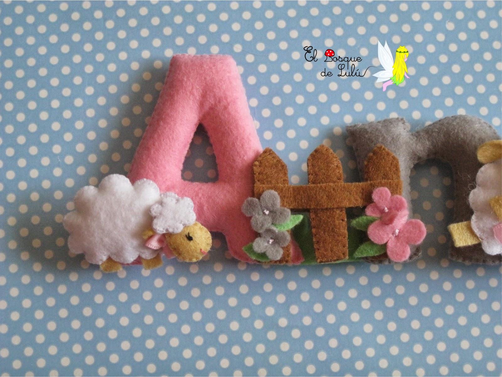 nombre-fieltro-ovejas-decoración-personalizado-regalo-nacimiento