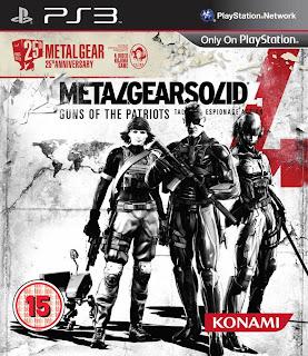 metal gear solid 4 25th anniversary edition european box art Europe   Metal Gear Solid 4: 25th Anniversary Edition   Box Art