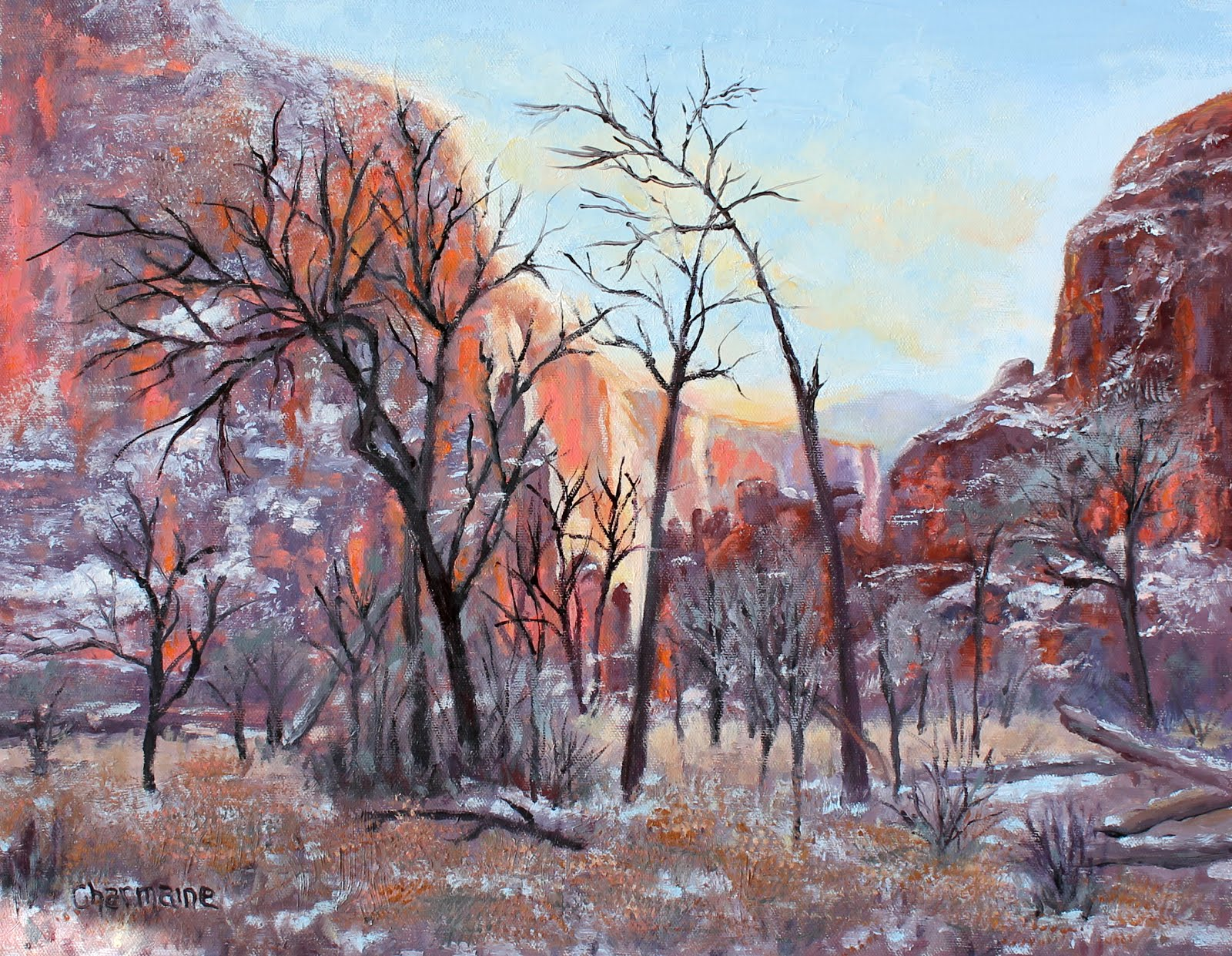 New Year's Afternoon in Zion