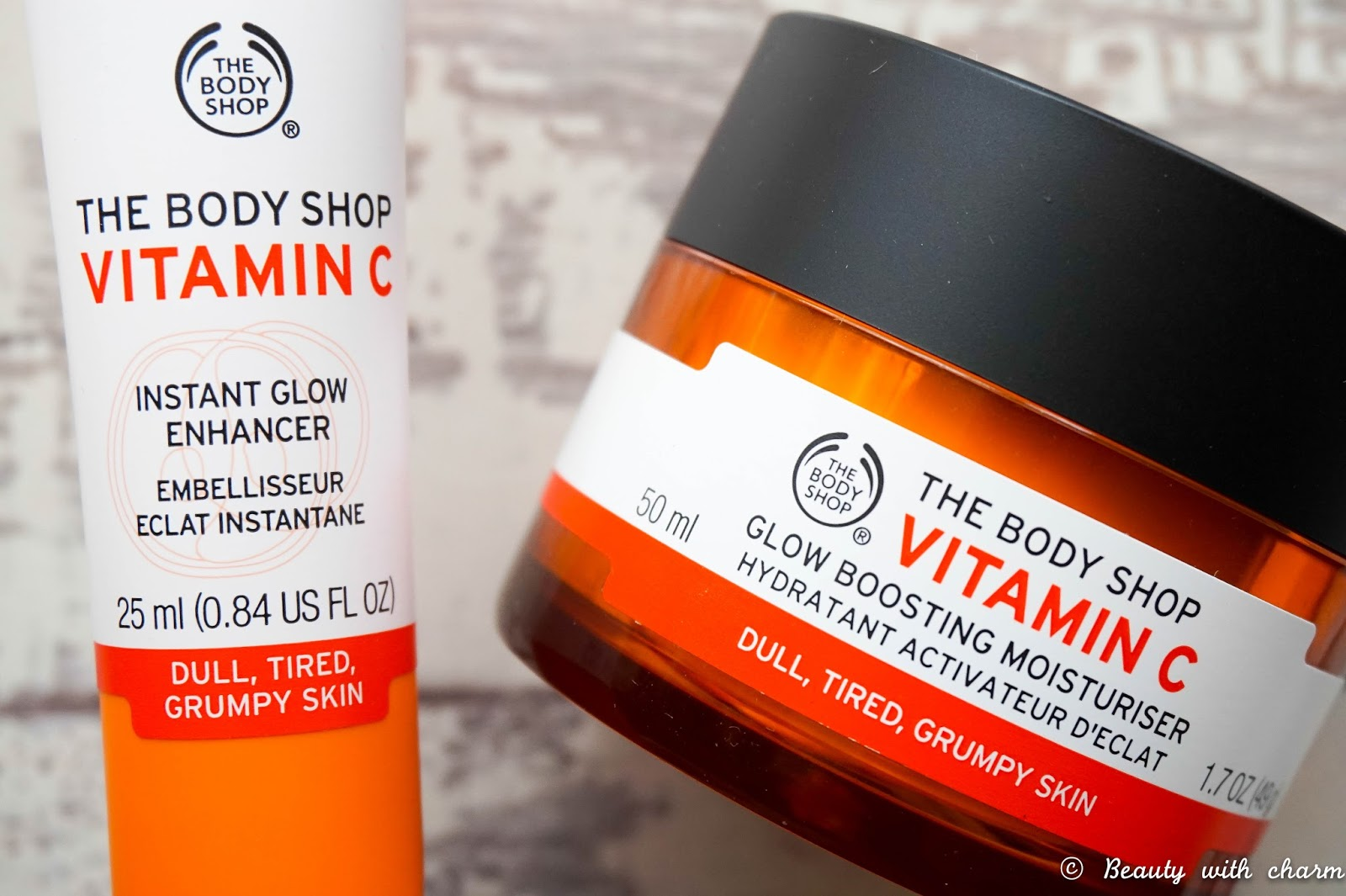 The Body Shop Vitamin C Duo, Glow Boosting Moisturiser, Instant Glow Enhancer