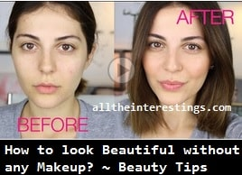 How to look Beautiful without any Makeup?, Beauty Tips & Video Tutorial for Girls, basic Every Day Makeup, Simple natural makeup tutorial, ultimate beauty tips guide pdf, Manual for beginners