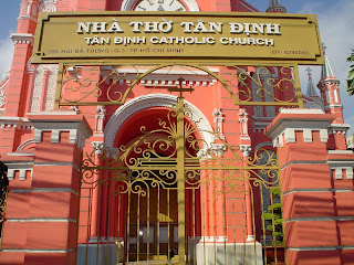 Tan Dinh Church (église Rose) à Ho Chi Minh. Viêt-Nam