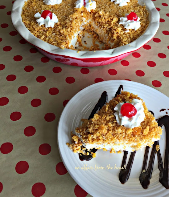 "Featured Recipe | ""Fried"" Ice Cream Pie from An Affair from the Heart #dessert #pie #icecream"