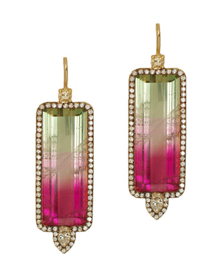 earrings, tourmaline earrings, jewelry