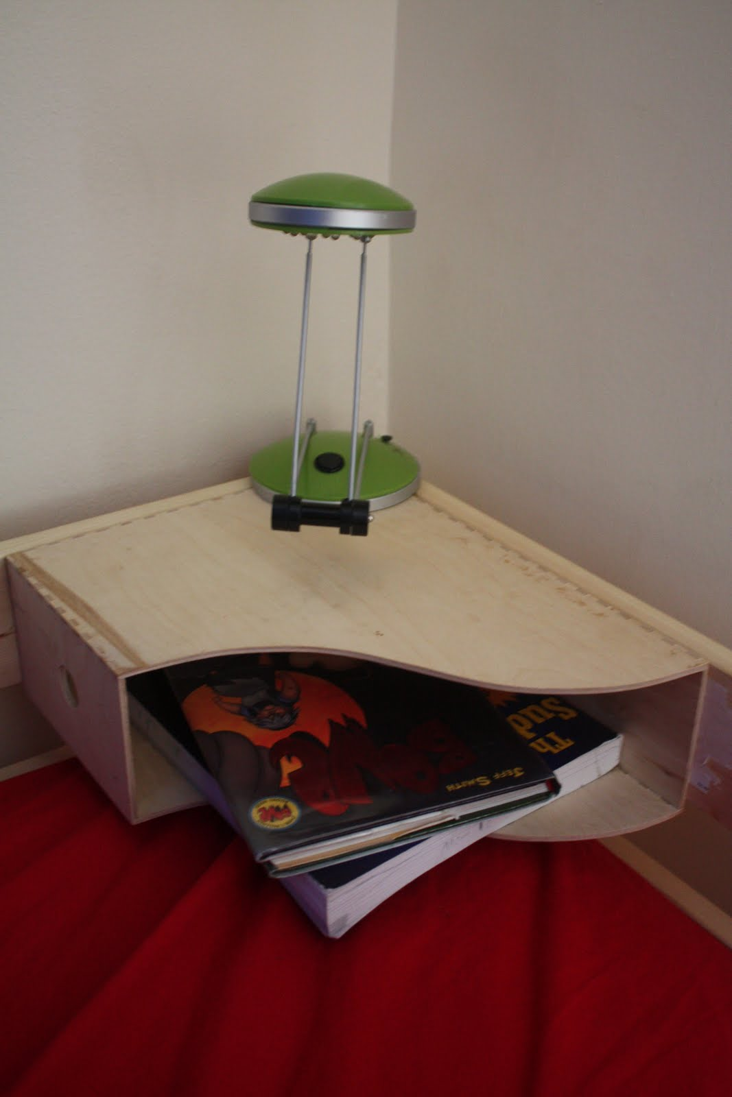Dried Figs And Wooden Spools A Bunk Bedside Table A Tutorial