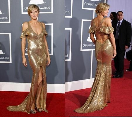 Heidi Klum, otra famosa que combina el color de su vestido con su pedicura