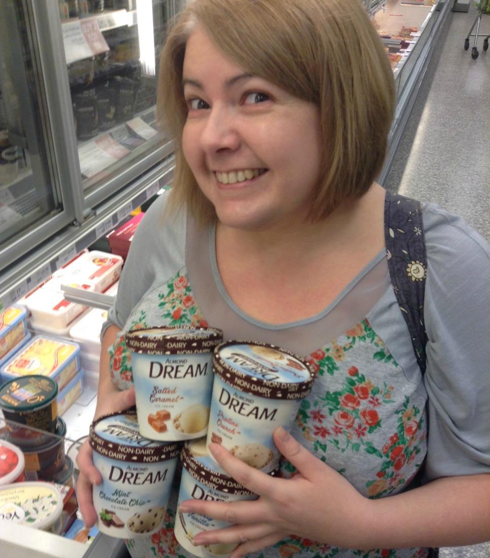 Sugarpuffish with Almond Dream Non Dairy Ice Cream
