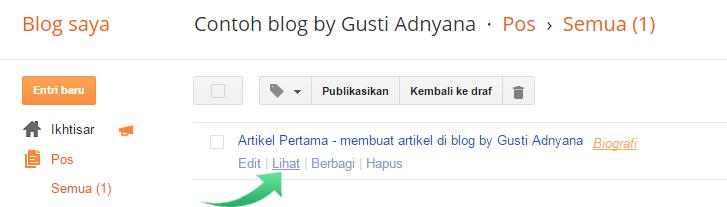 Cara Membuat Posting Artikel di Blog