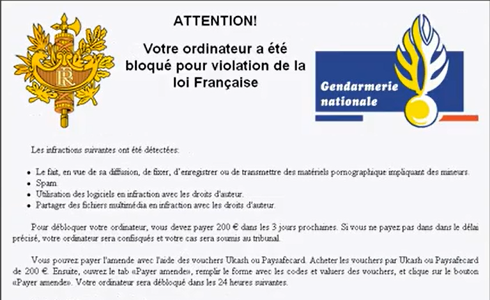 ransomwares gendarmerie