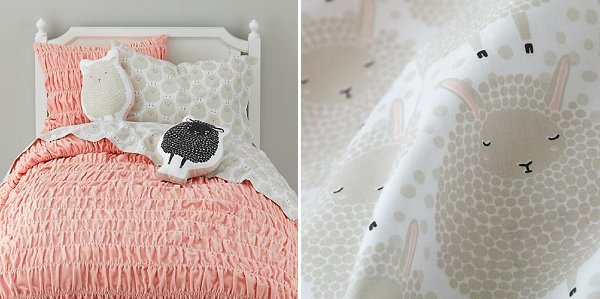 nursery decor inspirations, kids room ideas, sheep print bedding,