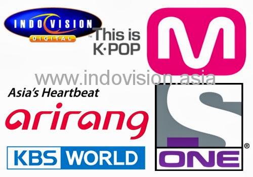 Daftar channel TV korea terbaru di Indovision.