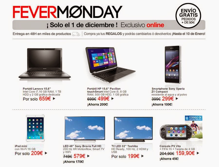 Fever Monday El Corte Ingles 2014