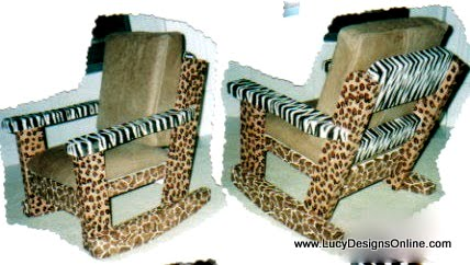animal print rocking chair