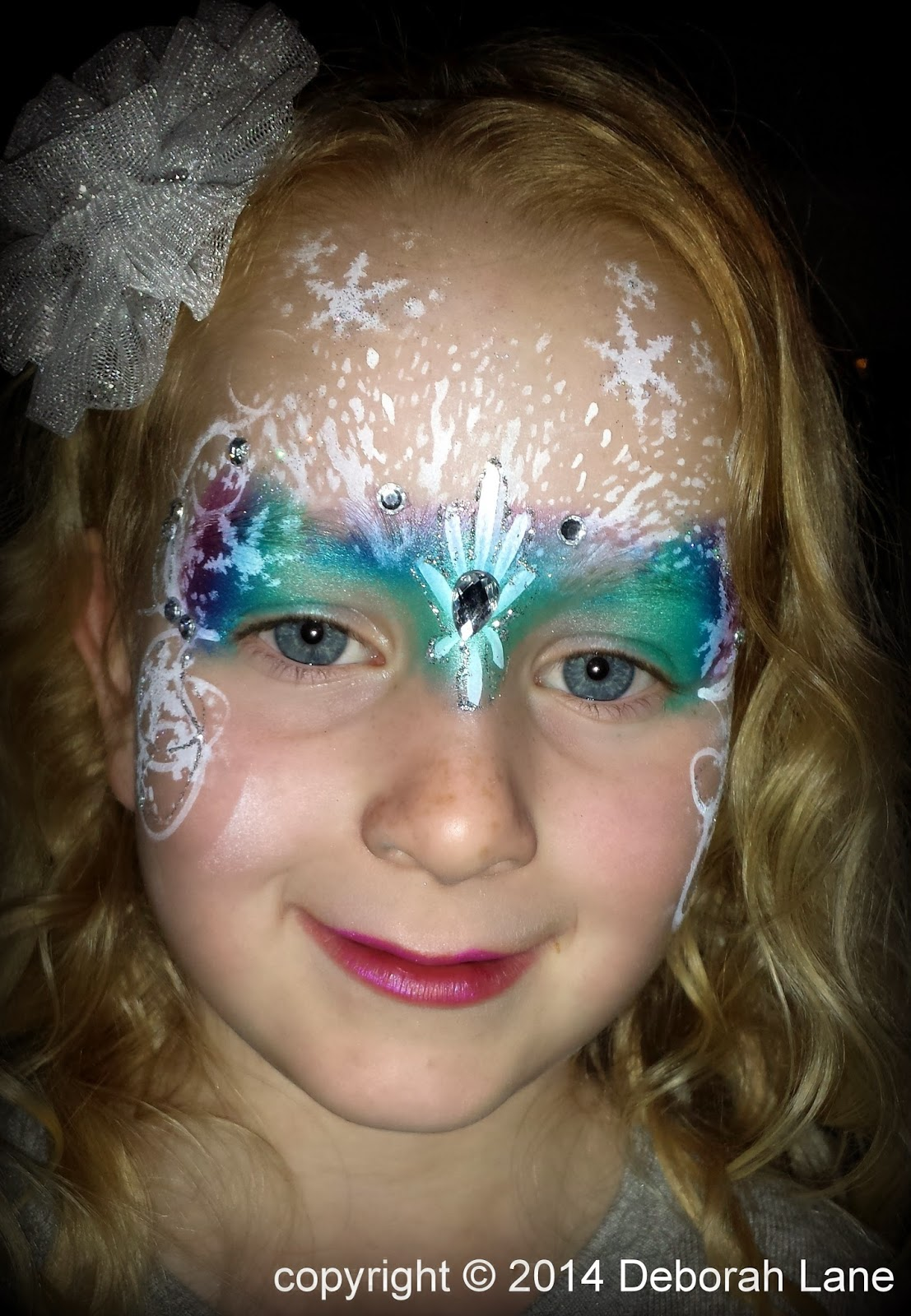 A frozen weekend face painting by deborah lane for Frozen face paint