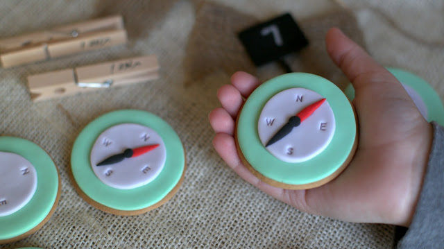 COMPASS COOKIES, עוגיות מצפן, בלוג עיצוב דה לוקס, DIY GOODY BAGS