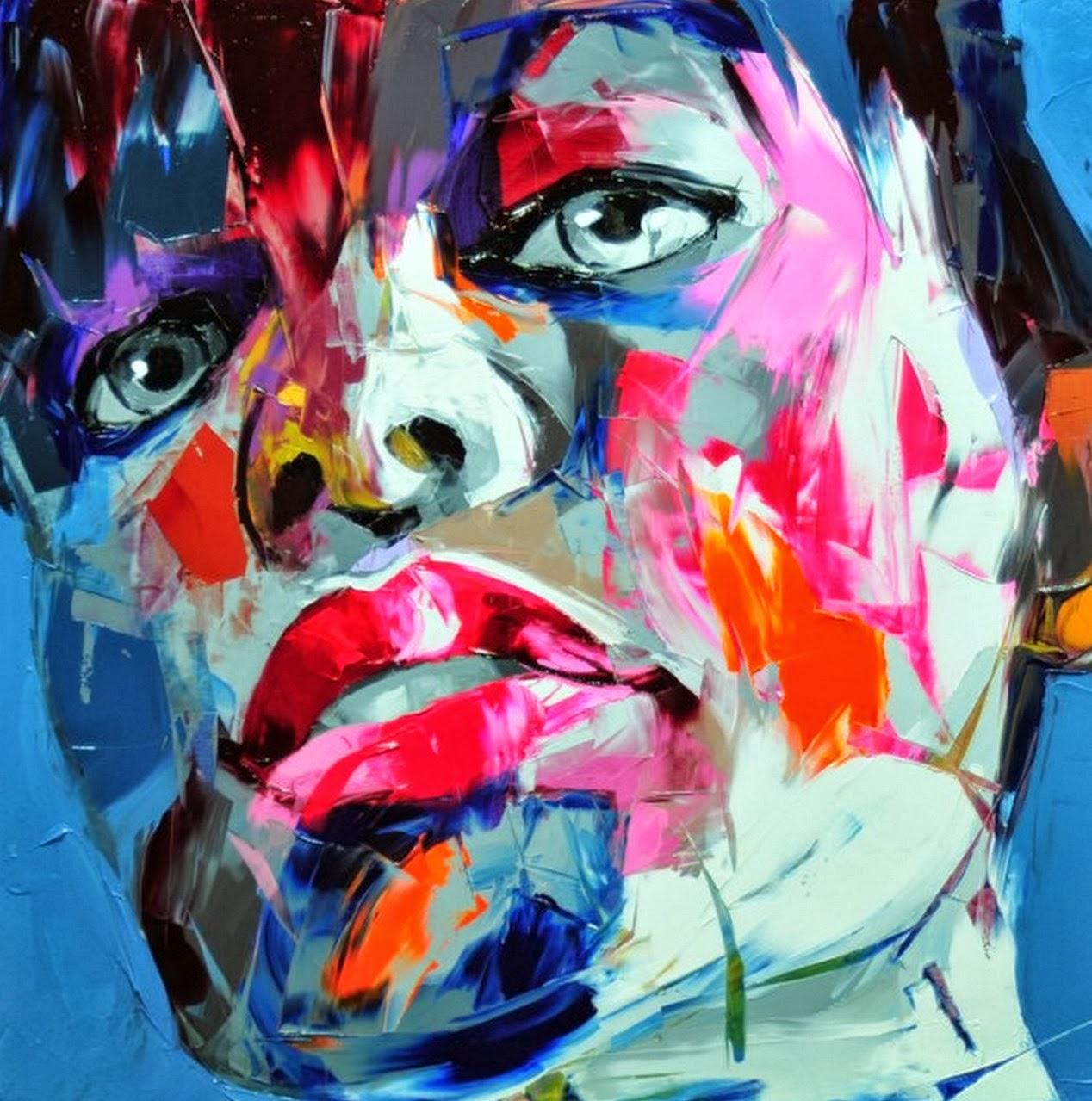 Cuadros modernos pinturas y dibujos pintura de retratos - Cuadros pintura acrilica moderna ...