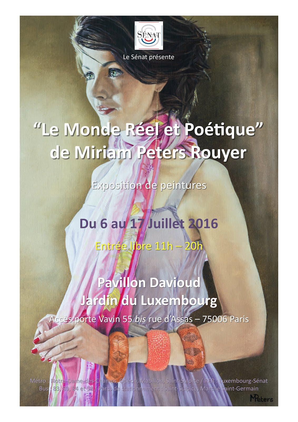 2ème expo au Jardin du Luxembourg Paris
