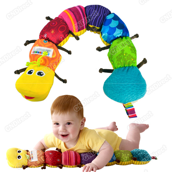 Popular and Colorful Inchworm Developmental Lovely Baby Toy New Soft Musical