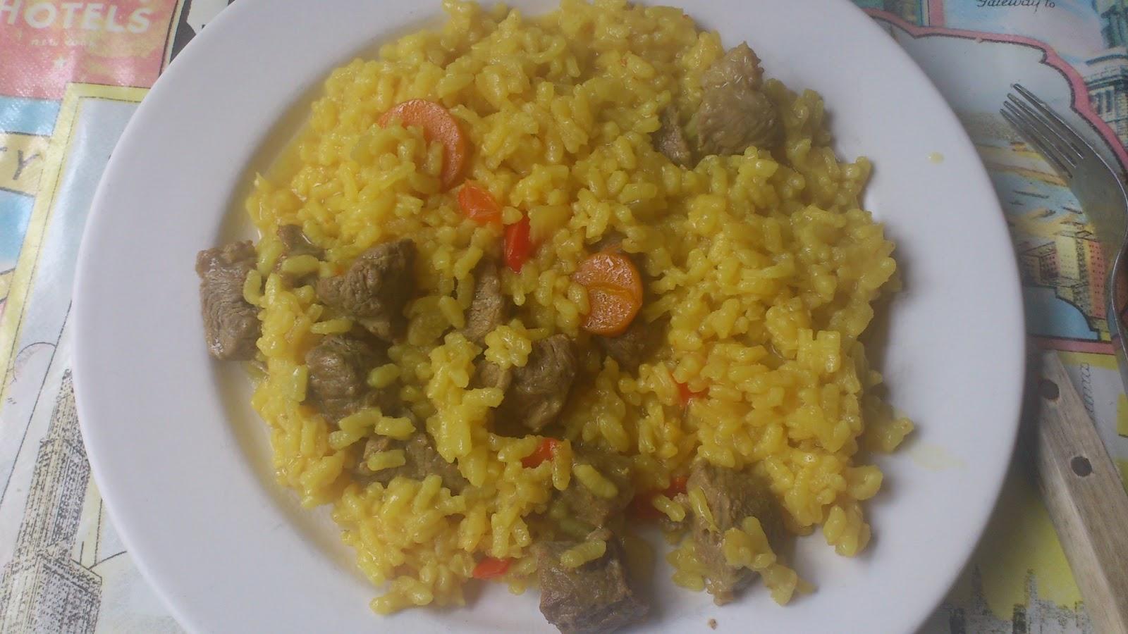 La cocina de cris guiso de carne con arroz for Cocina 5 ingredientes jamie