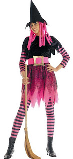 Halloween Kostume Stribet hekse tøj