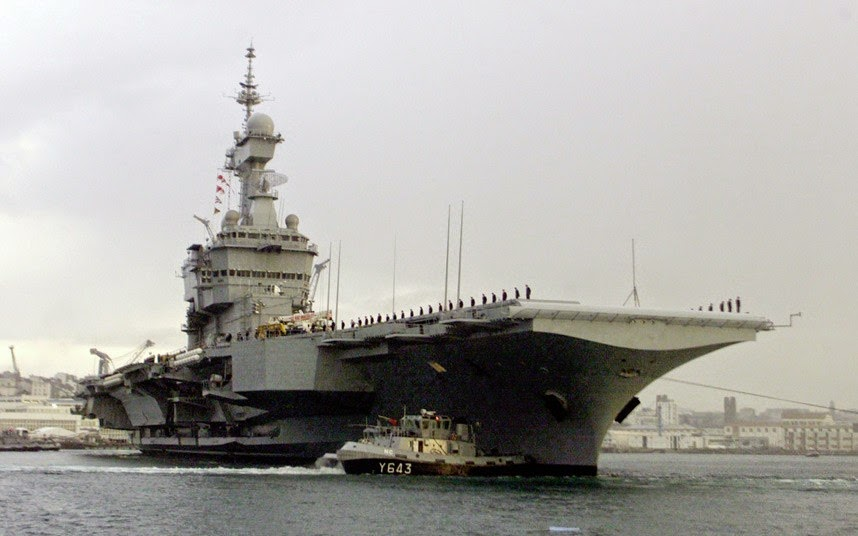 Warship: Charles de Gaulle nuclear-powered aircraft carrier, French