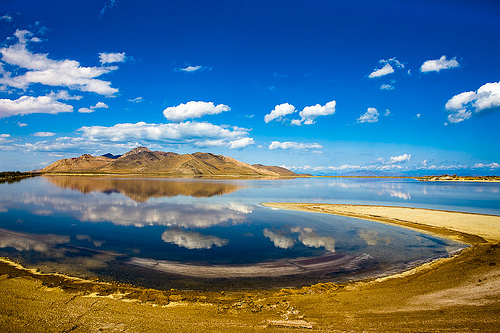 REFLECTION OF THE STANSBURY ISLAND, UTAH