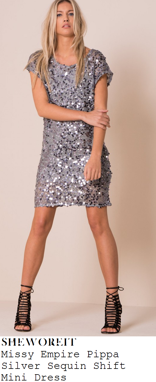 lauren-pope-silver-sequin-embellished-short-sleeve-t-shirt-mini-dress