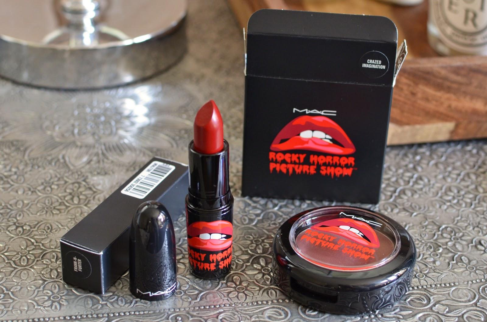 My small MAC Rocky Horror haul: Frank-N-Furter lipstick and Crazed Imagination blush