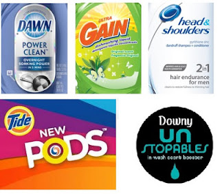 Dawn Tide Downy Gain P&G