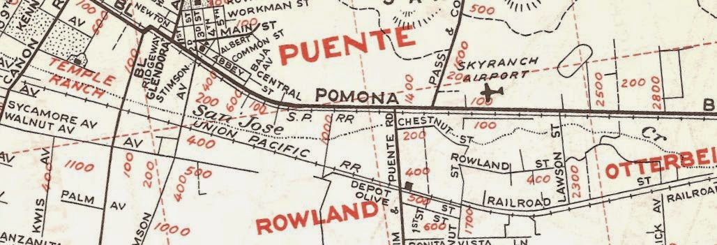 EAST SAN GABRIEL VALLEY  / PUENTE AREA VINTAGE MAPS