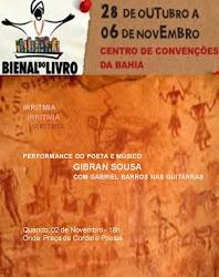 gibran sousa é um dos convidados da bienal do livro da bahia