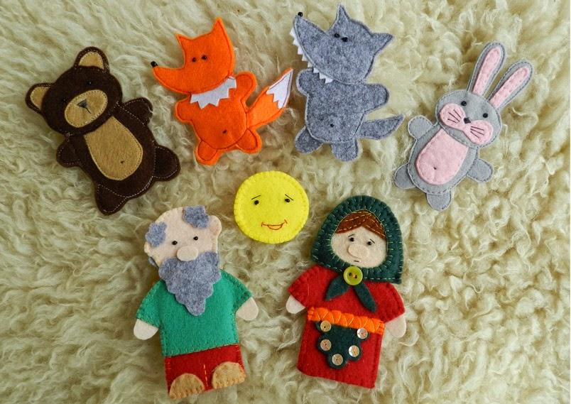 Шаблоны пальчиковых кукол из фетра своими руками 47